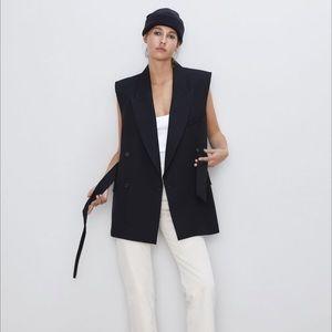 NWT Zara Black Waistcoat Vest